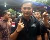 Agus Yudhoyono Lakukan Pencoblosan di TPS 06 Cibeber Kebayoran Baru