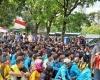 Ratusan Mahasiswa Anti SARA Demo Rumah SBY