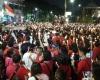"""Dahsyat, Di Surabaya Teriakan """"Bebaskan Ahok"""" Menggema"""