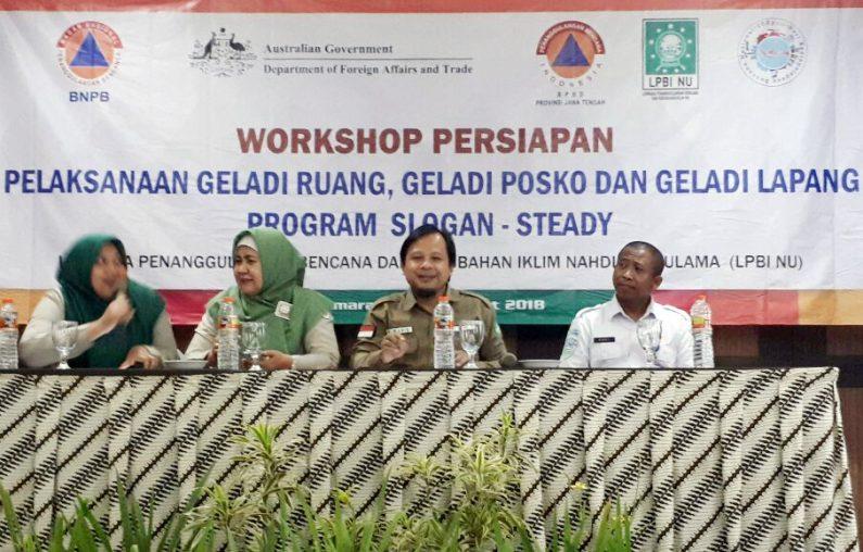 Gandeng BNPB dan BBMKG LPBI NU Adakan Workshop Kebencanaan