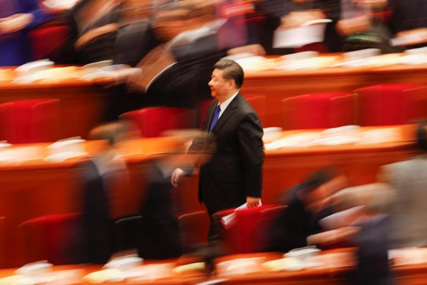 Photo Credit: Presiden China Xi Jinping pergi setelah sesi pembukaan Konferensi Konsultatif Politik Rakyat Tiongkok (CPPCC) di Aula Besar Rakyat di Beijing, Tiongkok, 3 Maret 2018. REUTERS/Damir Sagolj
