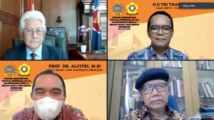 """""""Diplomasi Membumi: Narasi Cita Diplomat Indonesia"""" Bedah Buku Ala Dubes"""